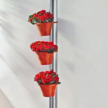 3 kvetináče na odkvapy