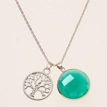 Naszyjnik Drzewo życia + kamień