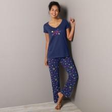 3/4 pyžamové nohavice s potlačou hviezdičiek Estrella