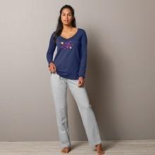 Pyžamové jednobarevné kalhoty Estrella