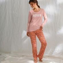 Pyžamové kalhoty s potiskem, bio bavlna
