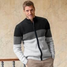 Sweter na suwak, ścieg angielski