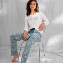Tričko s dlouhými rukávy a středovým potiskem, bio bavlna