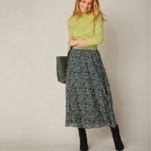 Dlouhá rozšířená sukně s potiskem květin