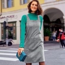 Kostkované šaty z úpletu Milano