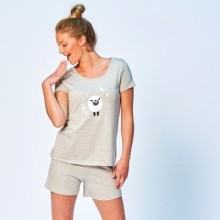 Pyžamo so šortkami, motív ovečiek