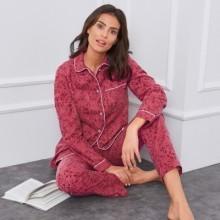 Pyžamo z flanelu, potlač mačiatka