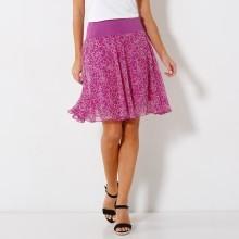 Rozšírená sukňa s potlačou kvetín