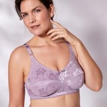 Podprsenka ze žakárové krajky Isabella, lila, bez kostic