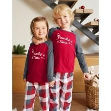 Detské pyžamo s vianočným motívom a dlhými rukávmi