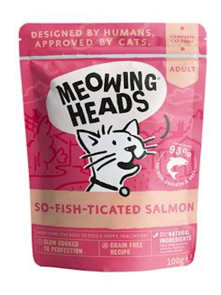 Levně MEOWING HEADS So-fish-ticated Salmon kapsička