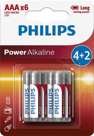 Levně Baterie 4+2 AAA (1,5V)