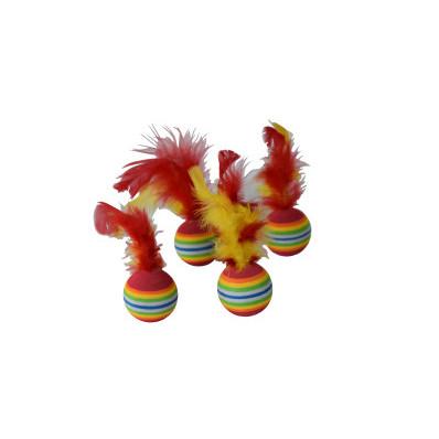Hračka míčky s pérky