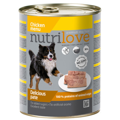 Nutrilove dog paté CHICKEN 800 g