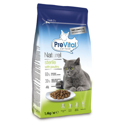 PreVital Naturel cat STERILE 1,4 kg