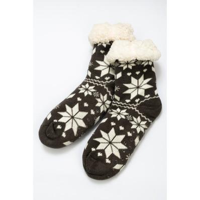 Zimní ponožky sněhové vločky