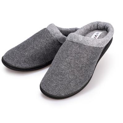 Plyšové pantofle pánské šedá