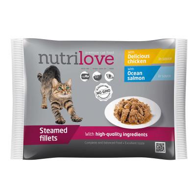 Nutrilove cat kapsa mix v omáčce 4x85 g