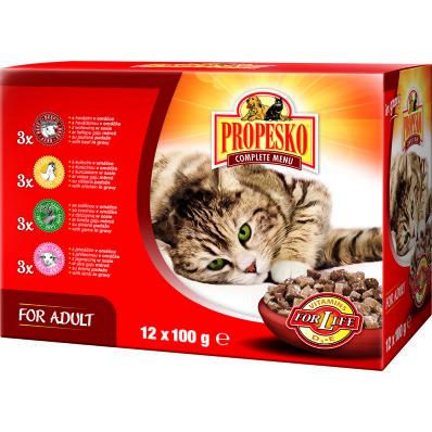 Propesko kapsa pro kočky mix 12x100 g