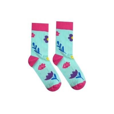 Veselé ponožky Jarní květ