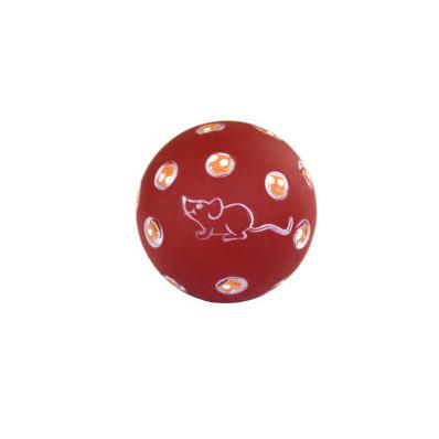 Hračka míček s otvory na krmivo