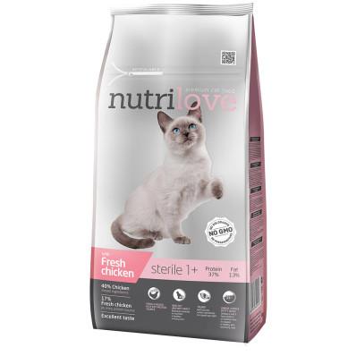 Nutrilove cat  STERILE kuře 1,4 kg
