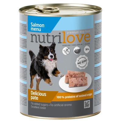 Nutrilove dog paté SALMON 800 g
