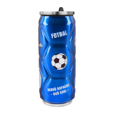 Termoska plechovka nerez fotbal  0,5 l
