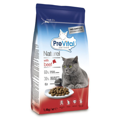 PreVital Naturel cat hovězí 1,4 kg