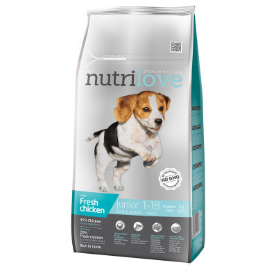 Nutrilove dog dry JUNIOR S and M
