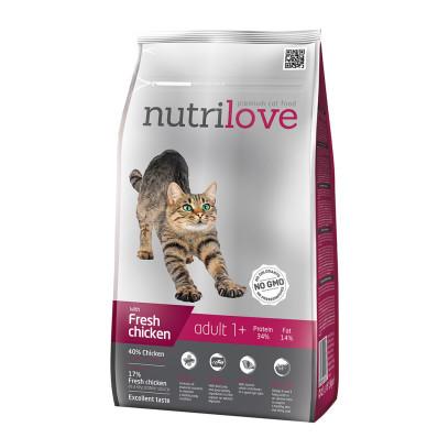 Nutrilove cat  ADULT kuře 1,5 kg