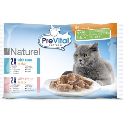 PreVital NATUREL filetky mix 4x85 g