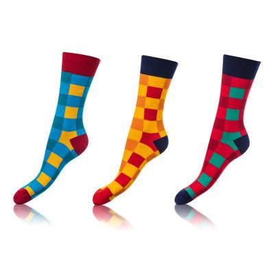 Crazy ponožky klasické, sada 3ks