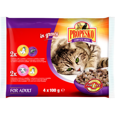 Propesko kapsa pro kočky mix 4x100 g