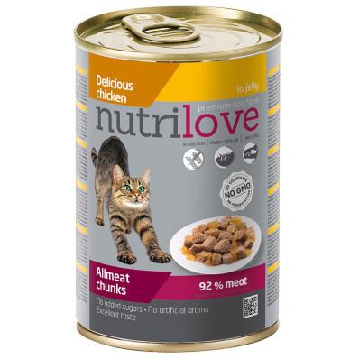 Nutrilove cat konzerva chunks jelly