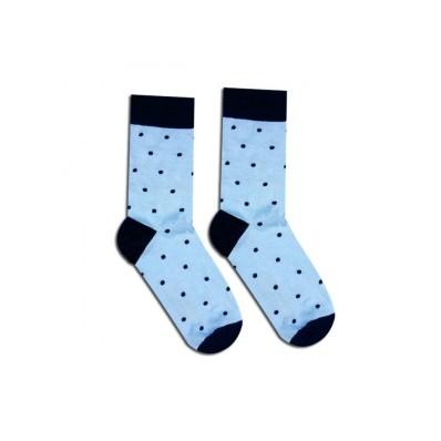 Veselé ponožky Bleděmodrý gentleman