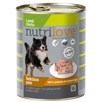 Nutrilove dog paté LAMB 800 g