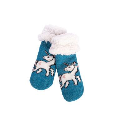 Dětské zateplené ponožky Jednorožec
