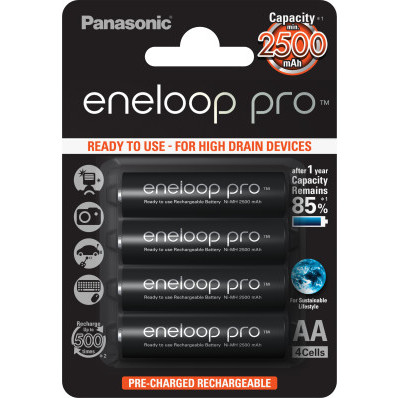 Sada nabíjecích baterií AA ENELOOP PRO PANASONIC