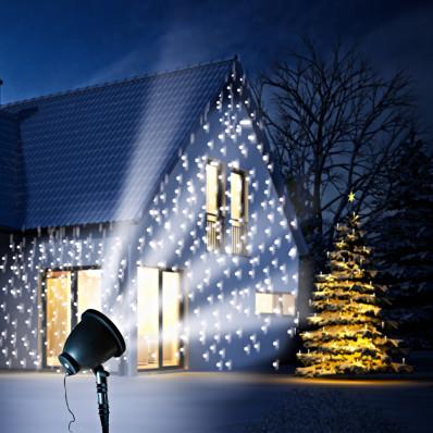 LED projektor Sněhové vločky