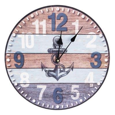 Nástěnné dřevěné hodiny Kotva