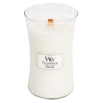 WoodWick svíčka velká White Teak