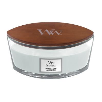 WoodWick svíčka loď Lavender and Cedar