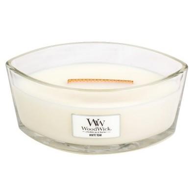 WoodWick svíčka loď White Teak