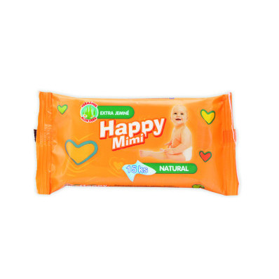 Happy Mimi vlhčené ubrousky 15 ks
