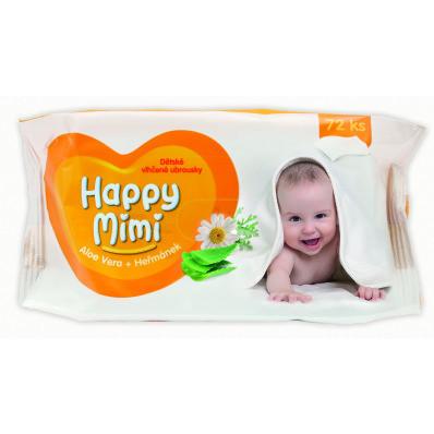 Happy Mimi ubrousky jemné 72 ks