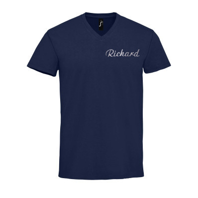 Pánské bavlněné tričko do V personalizované