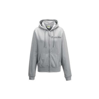 Dámská mikina na zip s kapucí personalizovaná