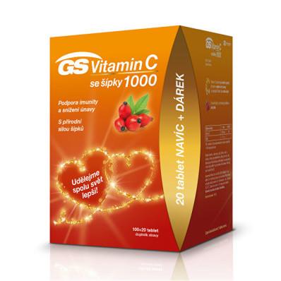 GS Vitamin C 1000 + šípky 120 tablet