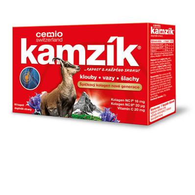 Cemio Kamzík kolagen na klouby 60 kapslí